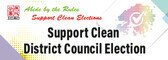 Support clean district council election